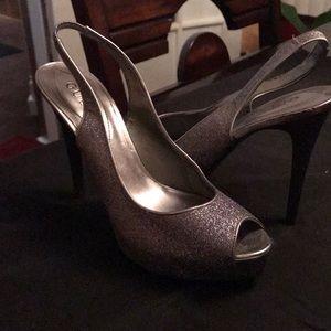 Sparkly slingback heels